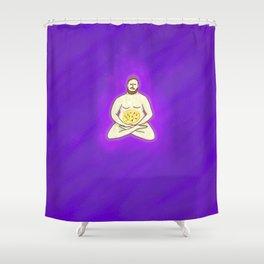 Yoga Pizza Shower Curtain