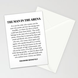 The Man In The Arena, Theodore Roosevelt, Daring Greatly Stationery Cards