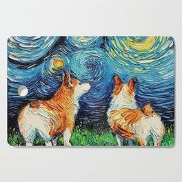 Starry Night Corgi Cutting Board