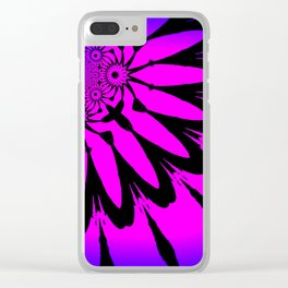 The Modern Flower Fuchsia Purple Ombre Clear iPhone Case