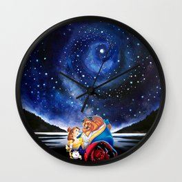 BEAUTY AND THE BEAST - STARRY NIGHT Wall Clock