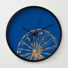Blue Ferris Wheel Wall Clock