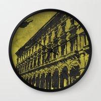 milan Wall Clocks featuring Milan 1 by Anand Brai