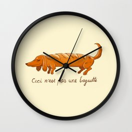 This is not a baguette Wall Clock