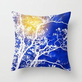 Blue Tree Art Throw Pillow