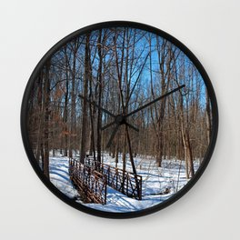 Winter Fatigue Wall Clock