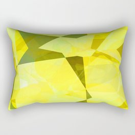 Pale Yellow Poinsettia 1 Abstract Polygons 2 Rectangular Pillow