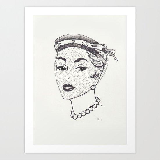 Nearly Vintage Hat Illustration Art Print