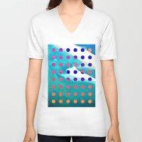 safari V-neck T-shirts featuring SURF SAFARI by Wesley Bird