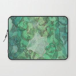 Green Blobs Laptop Sleeve