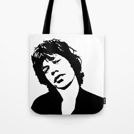 "Sir Michael Philip ""Mick"" JaggerBlack White Face, Music, Art Tote Bag"