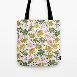 Waving floral pattern Tote Bag