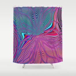 Re-Created  Flower 4 by Robert S. Lee Shower Curtain