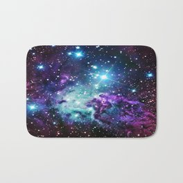 Fox Fur Nebula : Purple Teal Galaxy Bath Mat