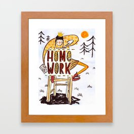 Do your homework outside Framed Art Print