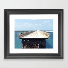 End of the Road, Bridge, Florida Keys, Marathon Framed Art Print