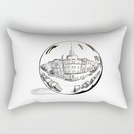 City in a glass ball . Art Rectangular Pillow