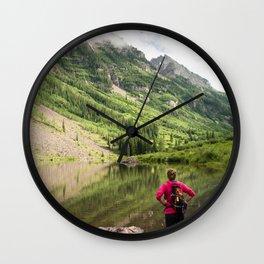 Hiking to Maroon Bells Wall Clock