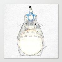 ghibli Canvas Prints featuring Ghibli  by Joan Pons