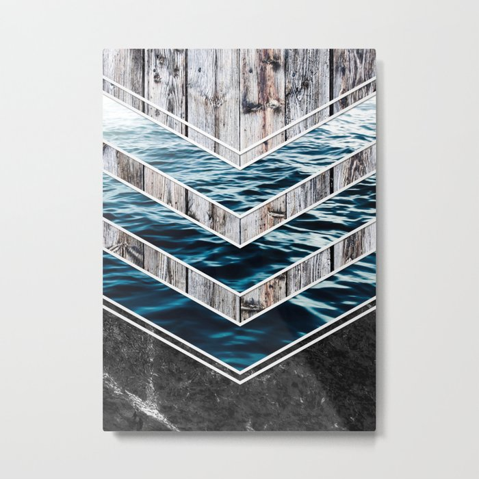 Striped Materials of Nature III Metal Print