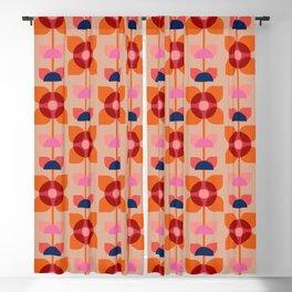 Retro floral pattern no4 Blackout Curtain