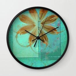 Exposure Reality Flowers  ID:16165-043834-44191 Wall Clock