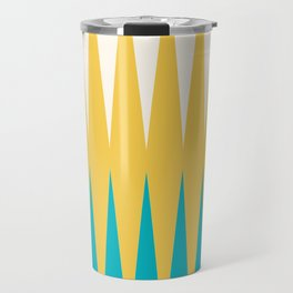 Geometrical retro colors modern print Travel Mug