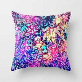 Alphabet Pastel Abstract Pattern Design Throw Pillow