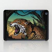 jaguar iPad Cases featuring Jaguar by Adamzworld