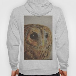 Watercolor Tawny Owl Painting Hoody