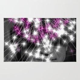 Flashing lights Rug