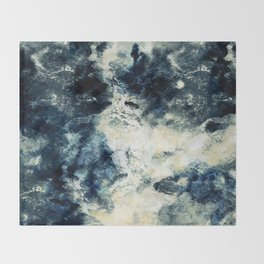 Drowning in Waves Texture Throw Blanket