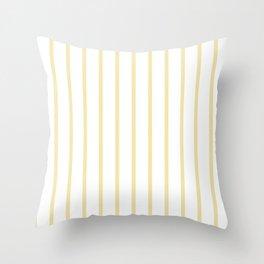 Vertical Lines (Vanilla/White) Throw Pillow