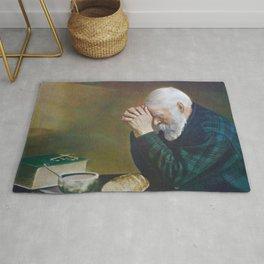 Eric Enstrom Grace Man Praying Over Bread Rug