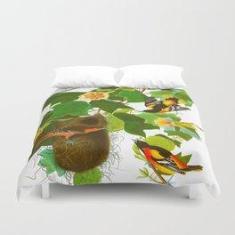 Baltimore Oriole Bird Duvet Cover