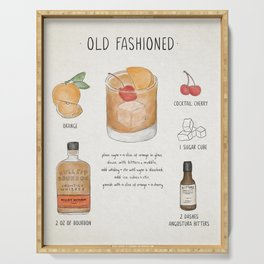 Old Fashioned Serving Tray