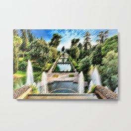 Tivoli, Italy Villa d'Este Fountains & Gardens Landscape by Jeanpaul Ferro Metal Print