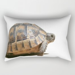 Sideview of A Walking Turkish Tortoise Isolated Rectangular Pillow