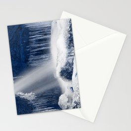 Stream of Blue Frozen Hope Stationery Cards