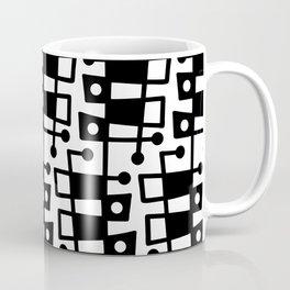 Mid Century Modern Abstract 213 Black and White Coffee Mug