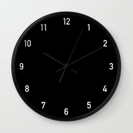 Numbers Clock Black Wall Clock