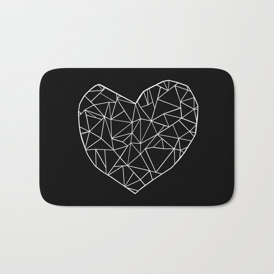 Abstract Heart Bath Mat