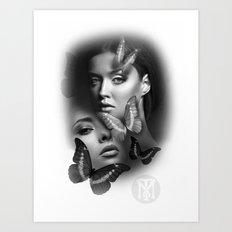 Butterfly girls Art Print