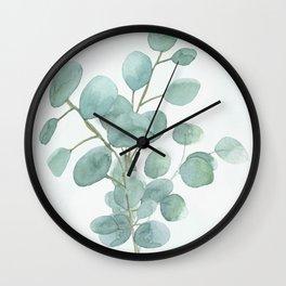Eucalyptus Silver Dollar Wall Clock