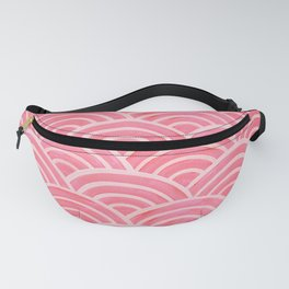 Japanese Seigaiha Wave – Powder Pink Palette Fanny Pack