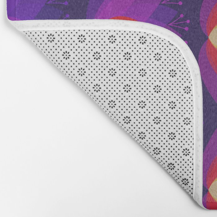 Variations on a Lotus I - Sparkle Brightly Bath Mat