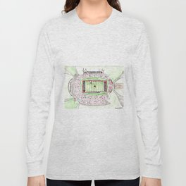U of L Papa John's Cardinal Stadium, Louisville, Kentucky, Watercolor Long Sleeve T-shirt