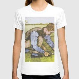 """Vincent van Gogh - Boy cutting grass with a sickle """"Jongen met sikkel"""" (1881) T-shirt"""