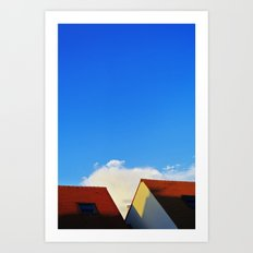 Primary Colours : Roof Art Print