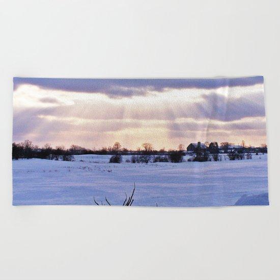 Sun Rays on the Farm Beach Towel
